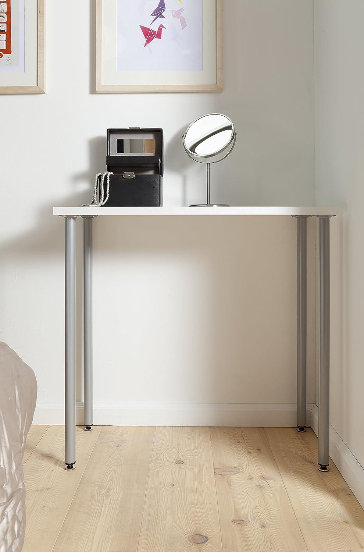 Element System Pieds en tube dacier ronds pour tables et meubles avec plaque de vissage 11100-00025 lot de 4 pieds