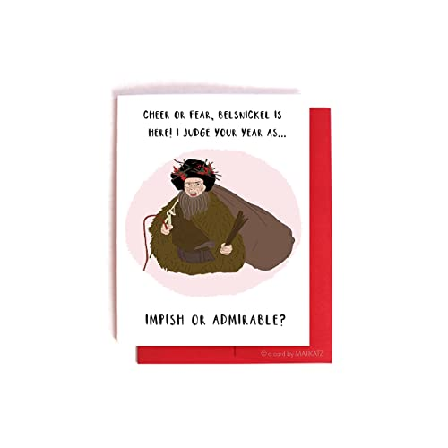 Dwight Christmas.Belsnickel Dwight Schrute Holiday Card The Office Christmas Card