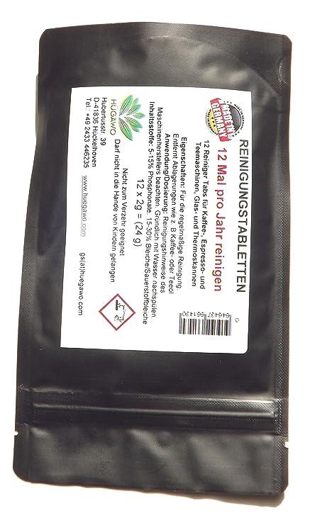 12 pastillas de limpieza para cafeteras automáticas, cafetera Máquinas, Cápsula, cafeteras monodosis (