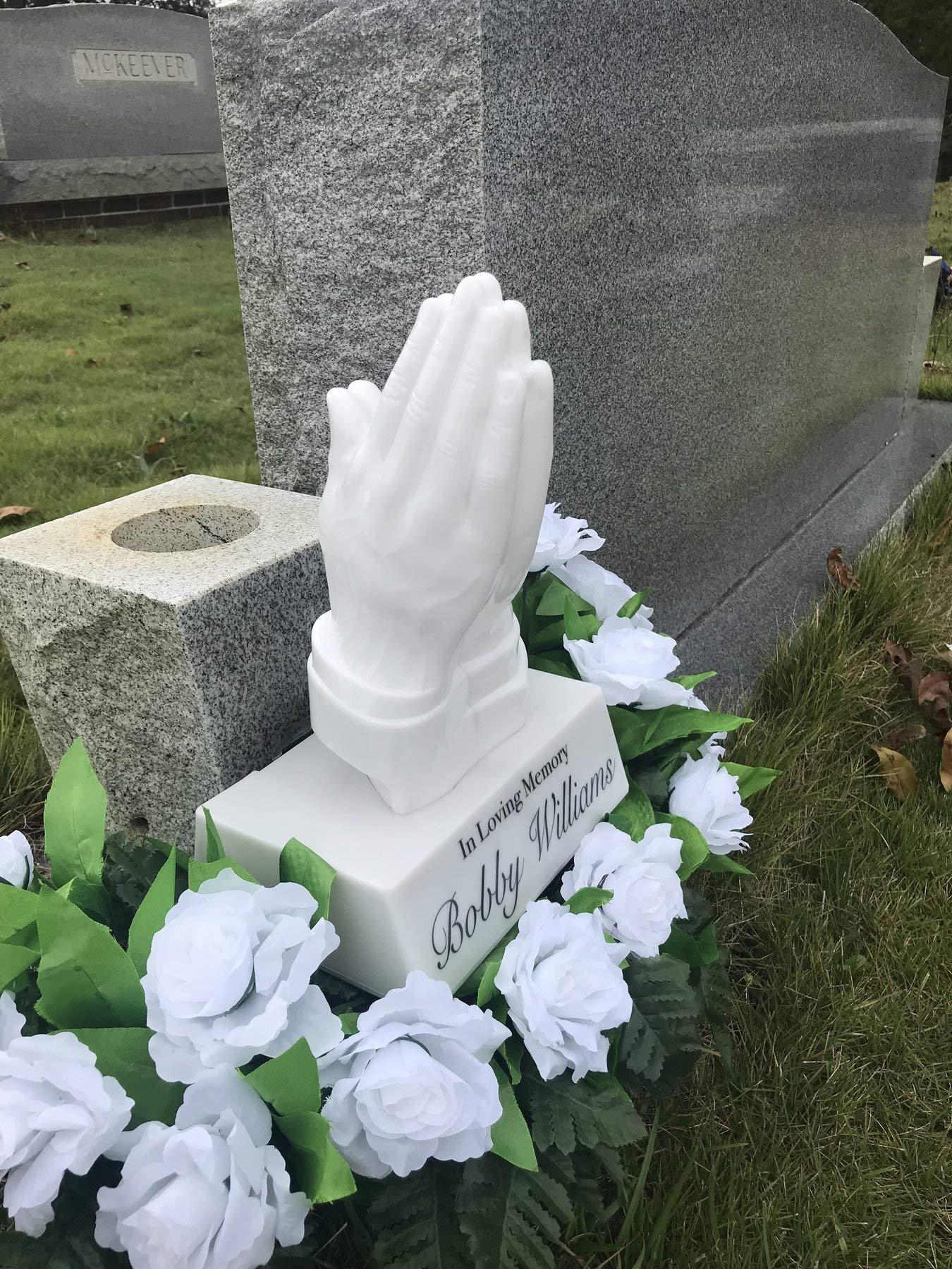Eternal Light Praying Hands - Solar Powered Praying Hands - Cemetery/Grave Memorial Decoration