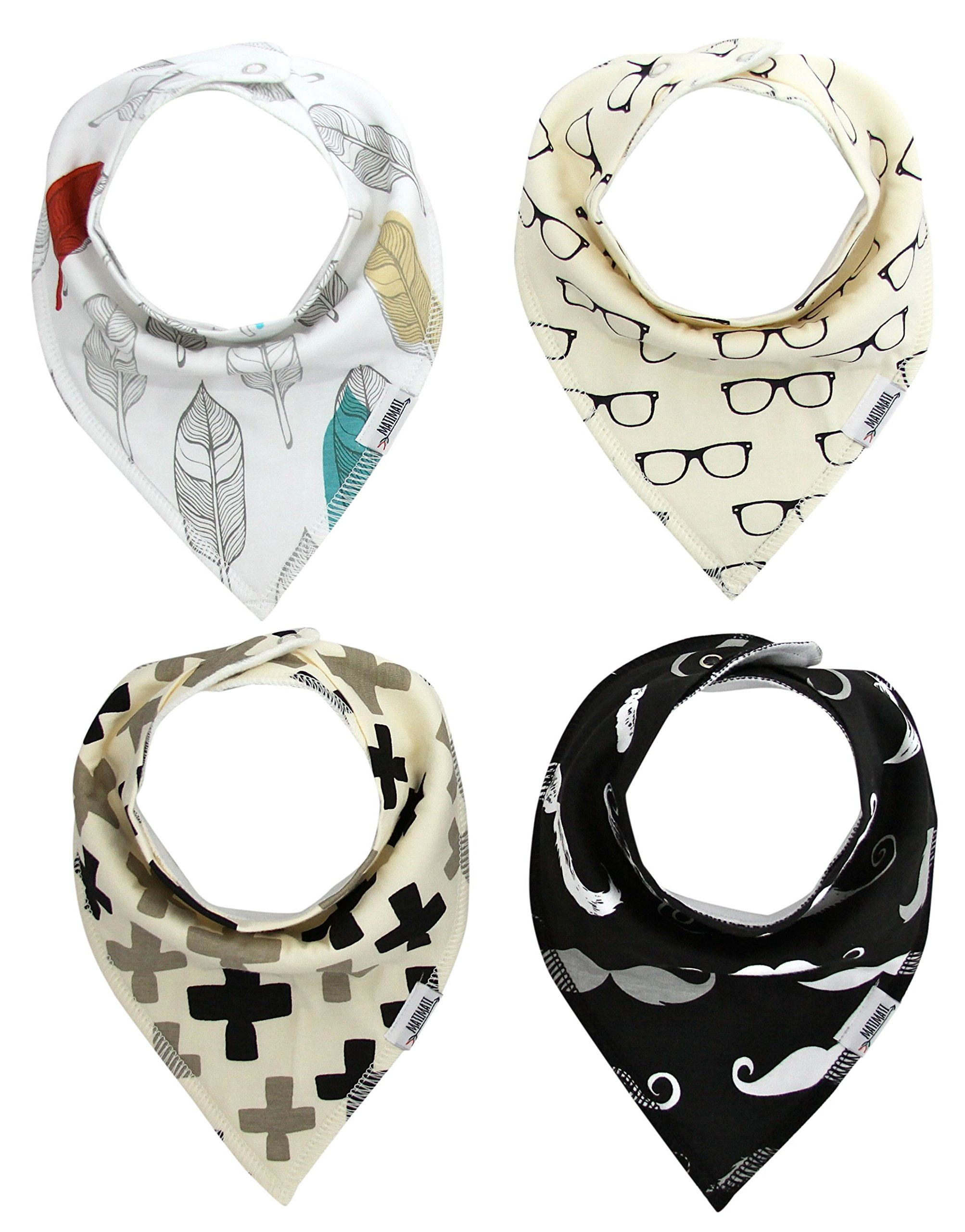 Amazon Com Baby Bandana Drool Bibs With Snaps Organic