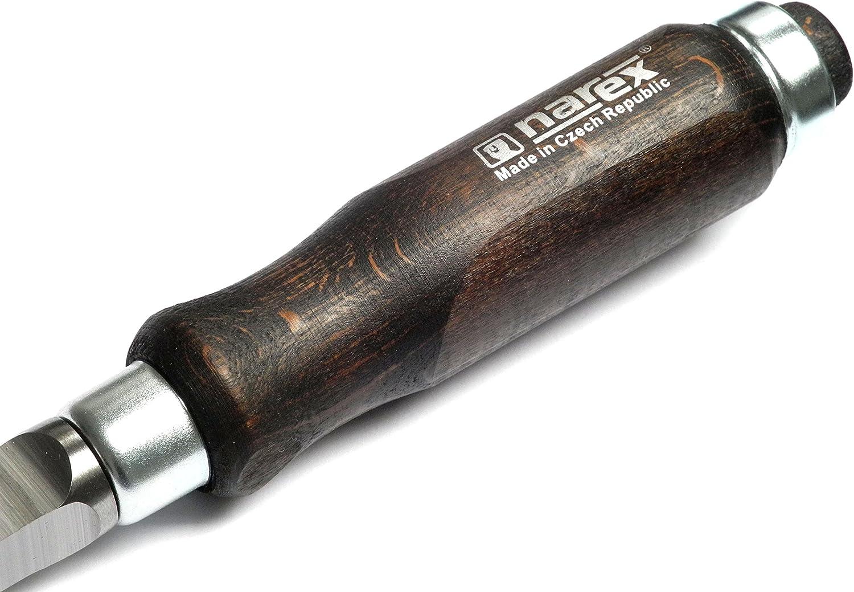 Gubia de agujero con Mango de madera para Agujeros de perno 5 mm Narex Cincel de mortaja