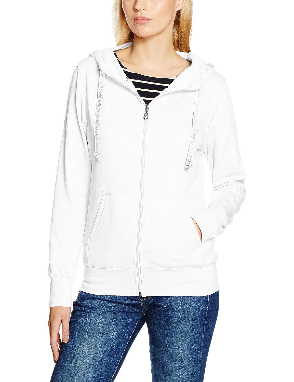 Blanc (Weiss 001) S Trigema Sweat-Shirt à Capuche Femme