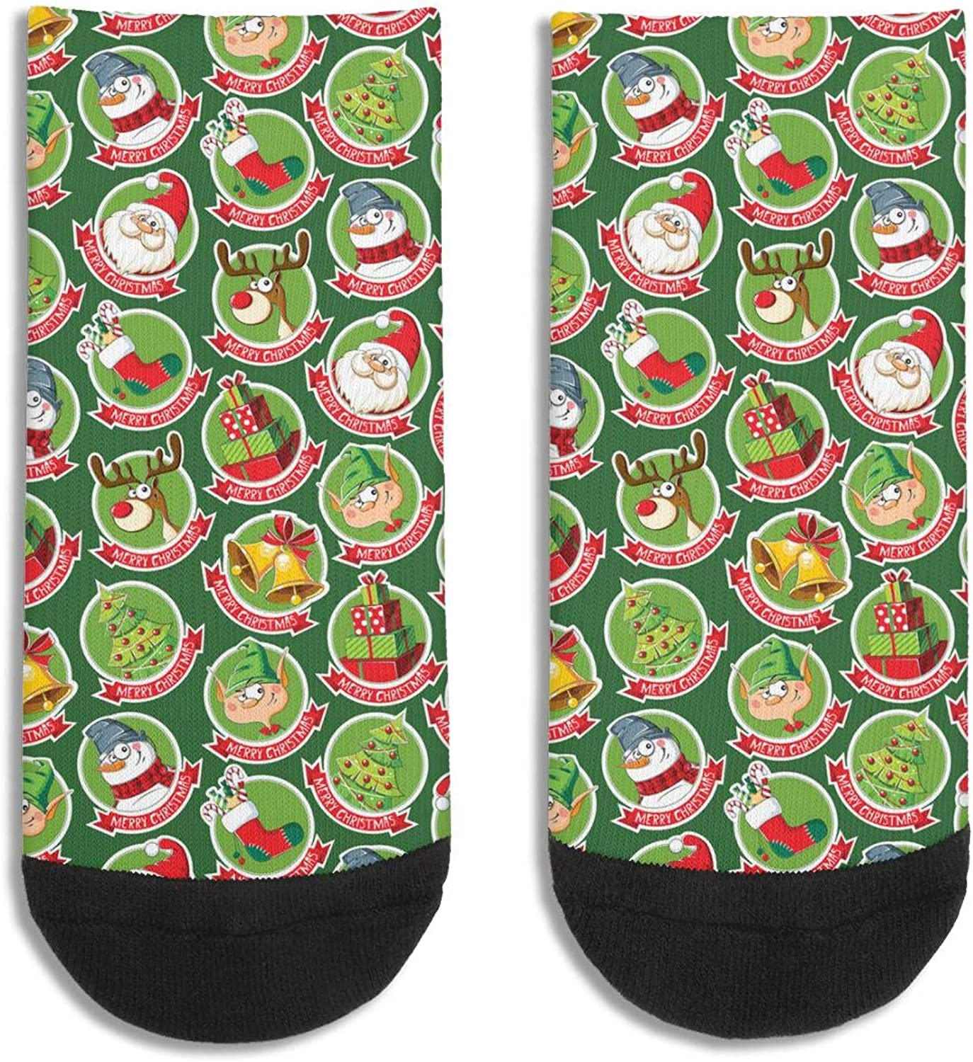 Woman Funny Christmas Words Compressed Socks Soft Classic Ankle Socks