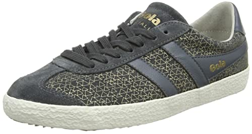 Gola Specialist Geo, Sneaker Donna, Grigio (Charcoal/Gold), 39 EU