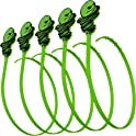 5-Pack Green Gobbler Hair Grabber Drain Tool