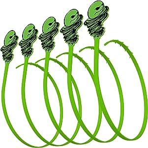 Green Gobbler Hair Grabber Drain Tool Snake Hair Clog Remover Drain Opener for Sinks Tubs and Showers Pack of 5