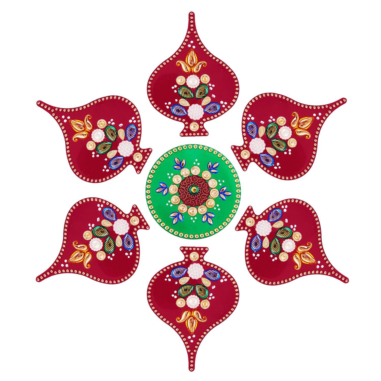Rangoli Stickers for pooja Diwali wall decoration / floor decoration