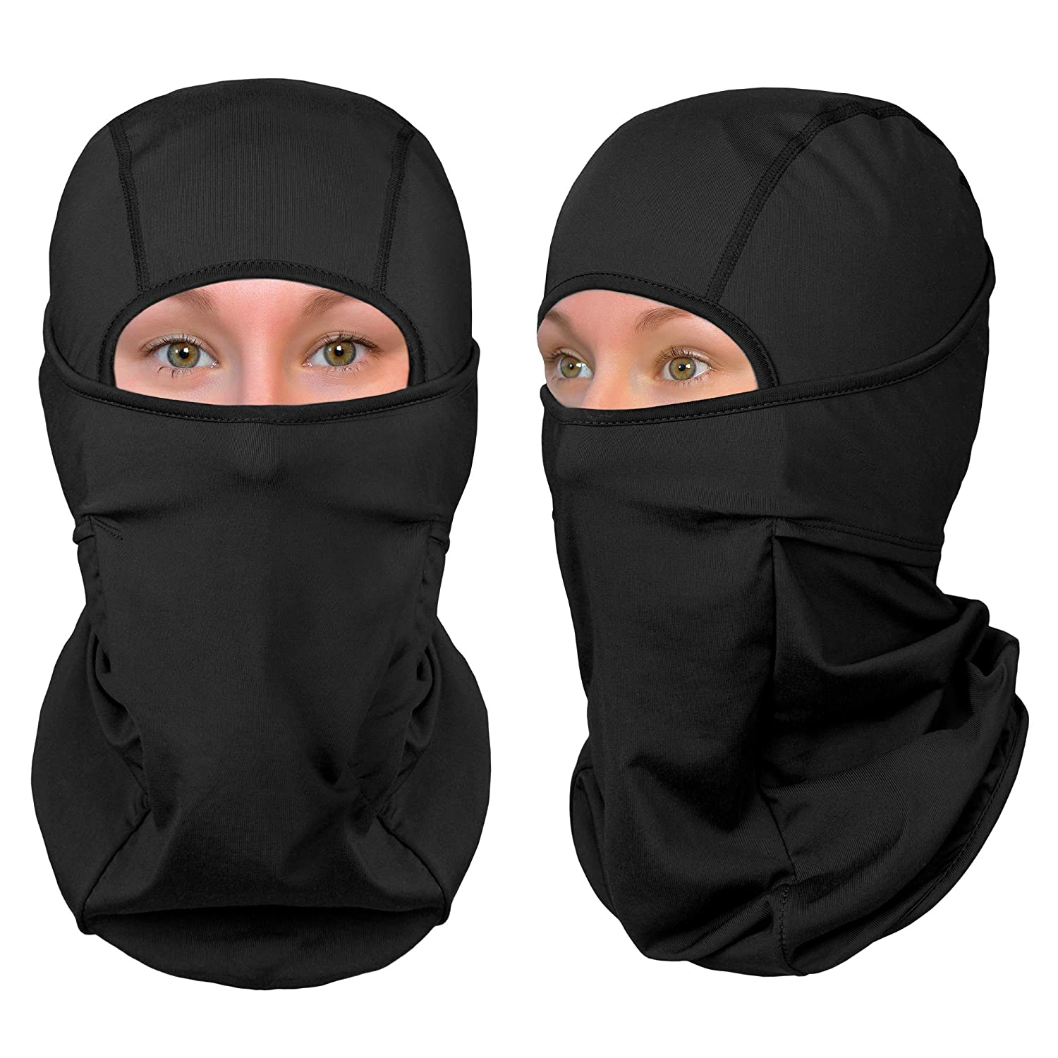 The Friendly Swede Balaclava Face Mask Neck Gaiter and Motorcycle Helmet Liner Standard//Nordic//Arctic 1-Pack or 2-Pack - Ski and Winter Sports Headwear