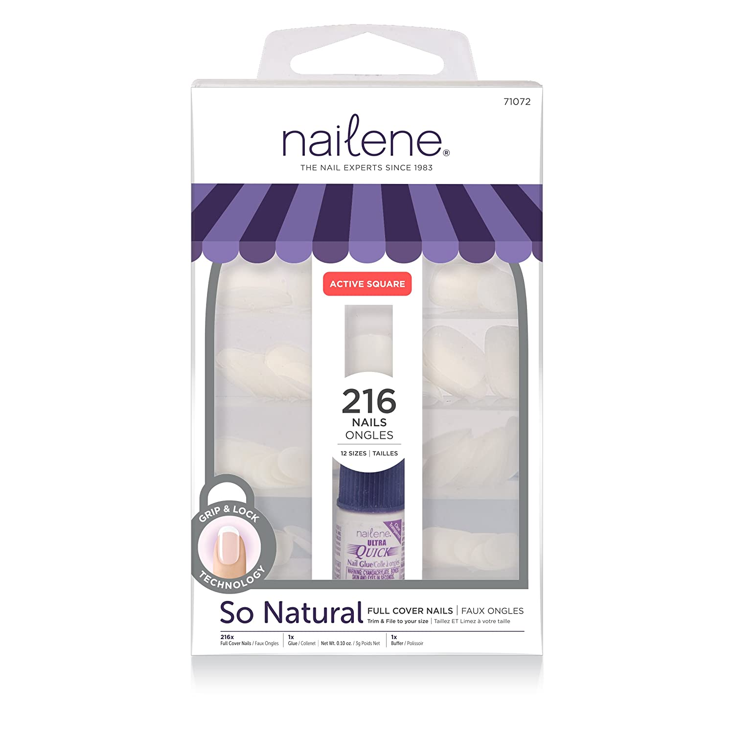 Nailene Full Cover Nails, 107.727g, 200 Count Pacific World Corporation 71072