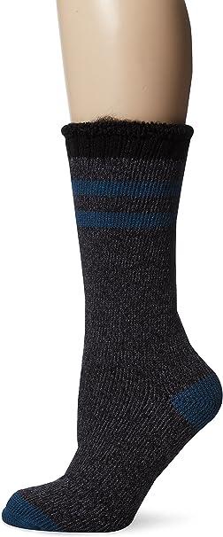 MUK LUKS Womens Heat Retainer Thermal Socks