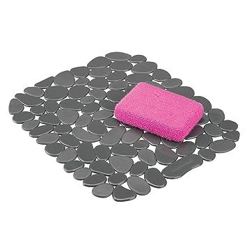 mDesign Tapete de PVC recortable para fregadero – Práctico protector de fregadero para la cocina –