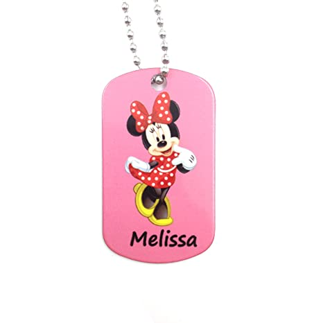 happypettag Minnie Mouse personalizado llavero Kid ID ...