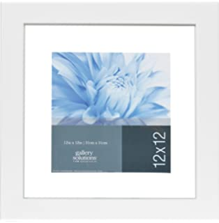 gallery solutions wood float frame white 12 by 12 inch