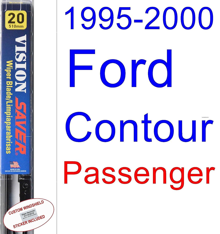 Amazon.com: 1995-2000 Ford Contour Wiper Blade (Driver) (Saver Automotive Products-Vision Saver) (1996,1997,1998,1999): Automotive