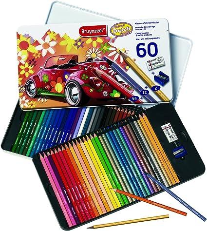 Talens - Caja metálica 60 Lápices de colores: Amazon.es: Oficina y papelería