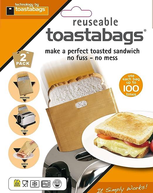 Tostabags, 2 Bolsas para Tostar 100 Usos, Paquete Doble, Dorado