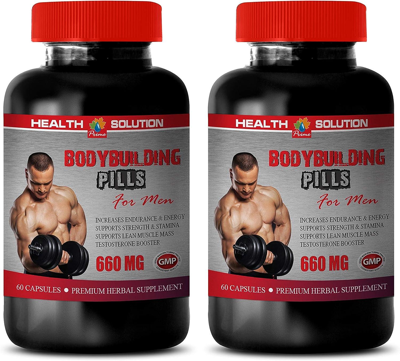 Energy Booster for Men - Muscle Building Supplements - Bodybuilding Pills for Men - Premium Herbal Supplements - rhodiola rosea Maximum Strength - dhea with Estrogen Blocker - 2 Bottles 120 Capsules