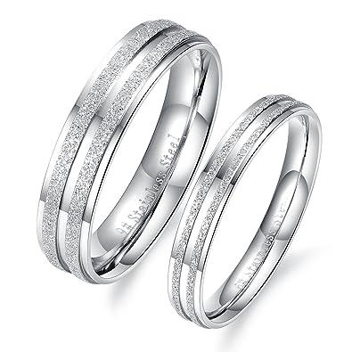 1 par (2 piezas) de anillos, de iLove EU, de amistad,