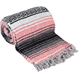 Authentic Mexican Falsa Blanket (Coral)