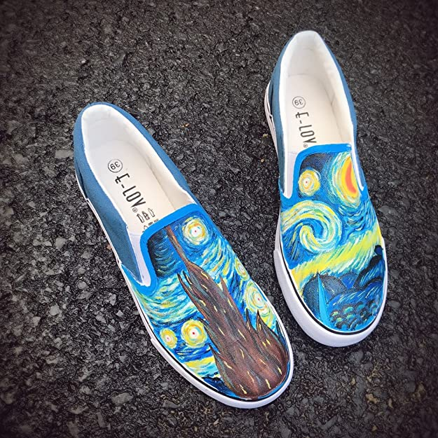 Pirates and Diamond Slip On Superior Comfort Loafers Sneakers Painted Canvas Shoes Casual Shoe for Women Comfortable