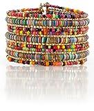 Amazon Price History for:Bohemian Multi-Colored Sequin Gold Cuff Bracelet - SPUNKYsoul