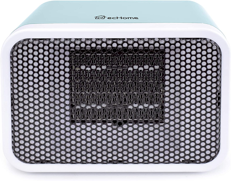 Echome 400w Handy Portable Mini Ptc Ceramic Heater Blue Suitable