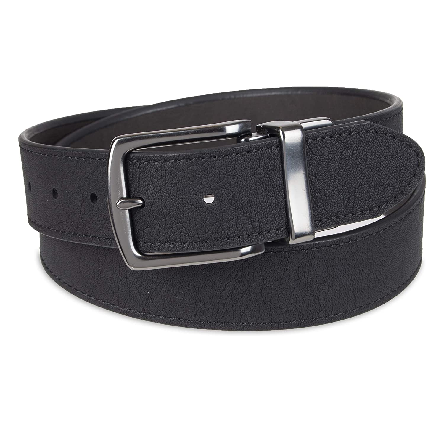 Columbia Reversible Leather Belt Casual for Mens Jeans with Double Sided Strap