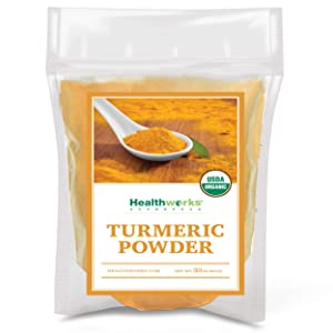 Healthworks Turmeric Powder (32 Ounces / 2 Pounds)   Ground Raw Organic   Curcumin & Antioxidants   Keto, Paleo, Vegan, Non-GMO   Anti-Inflammatory