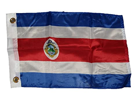 """12x18 12/""""x18/"""" Country of Costa Rica Boat Motorcycle Flag Grommets"""