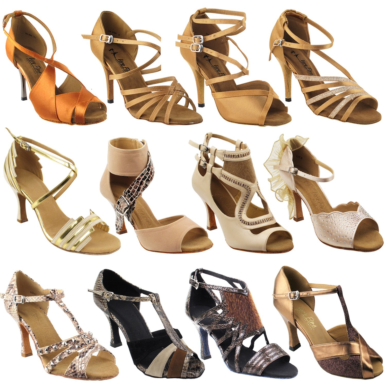 Gold Pigeon Shoes 50 Shades of TAN: 3030LEDSS:Dark Tan Satin:3'' Slim Heel:Size 8