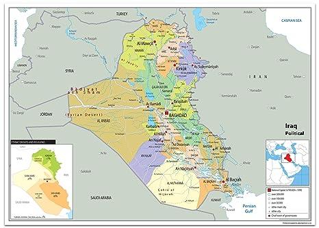 Cartina Iraq.Iraq Political Map Paper Laminated A0 Size 84 1 X 118 9