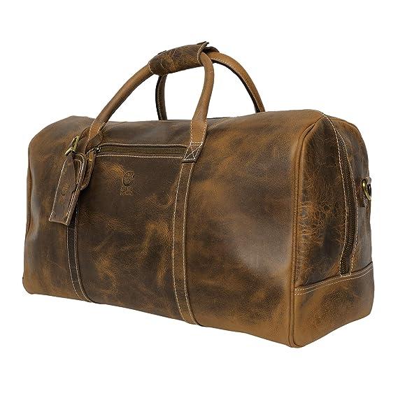 Amazon.com: Rustic Town - Bolsa de viaje de piel para avión ...