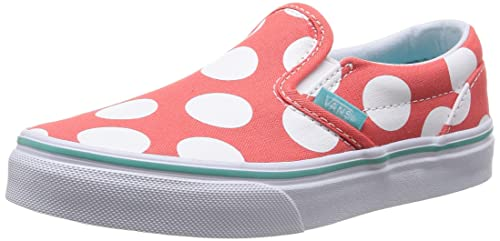 465feba088 Vans Kids Classic Slip-On (Polka Dots) Hot Coral 2.5: Amazon.ca ...
