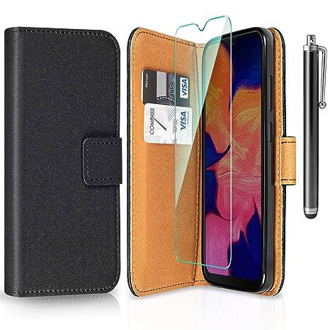 ivencase Funda Samsung Galaxy A10 + Protector de Pantalla, Samsung Galaxy A10 Libro Caso Cubierta la Tapa magnética Protector de Billetera Cuero de la ...