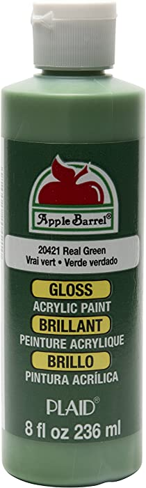 Apple Barrel Gloss Acrylic Paint in Assorted Colors (8 oz), Gloss Real Green