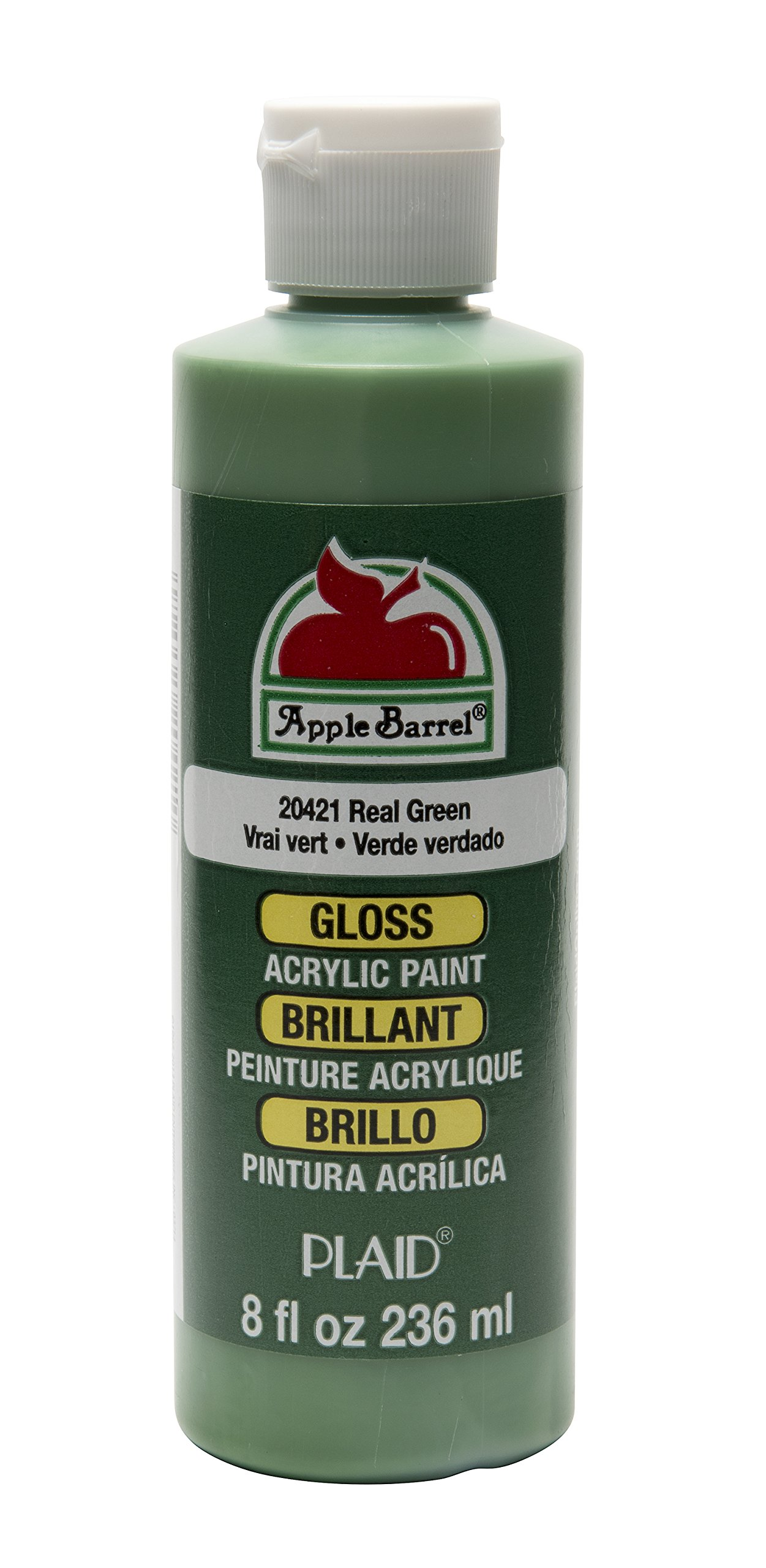 Apple Barrel Gloss Acrylic Paint in Assorted Colors (8 oz), K20421 Gloss Real Green by Apple Barrel
