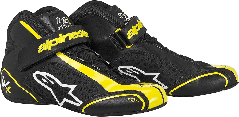 2712113-15-12.5 Black//Yellow Size-12.5 Tech 1-KX Karting Shoes Alpinestars