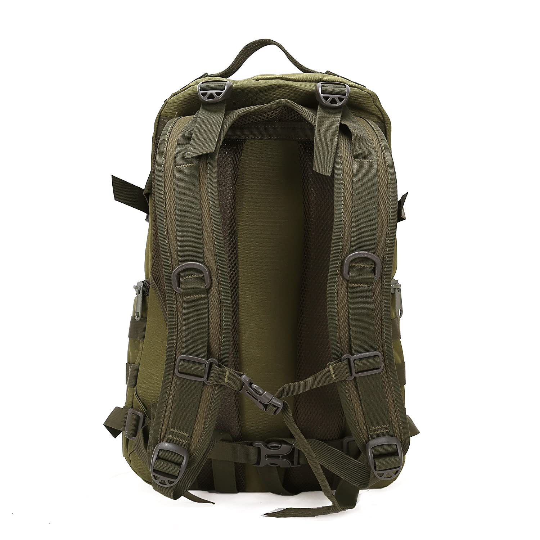bb227acc66d Amazon.com   Aircee (TM) Camping Hiking Traveling Pack Trekking Rucksacks  Tactical Camoufalge Army Military Waterproof Backpack (1-Army Green)    Sports   ...