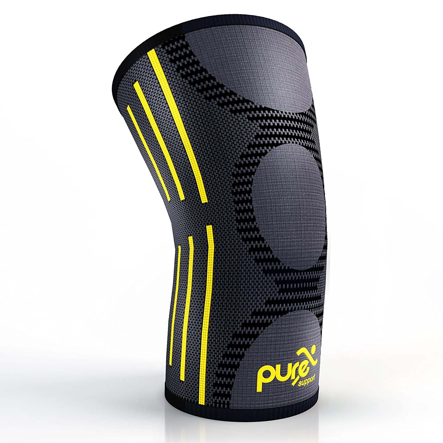 Pure Support Knee Brace Sleeve with Best Patella Compression for Meniscus Tear & Arthritis - Ideal for Running, Sports and Daily Activities for Women, Men and Kids … Men and Kids …
