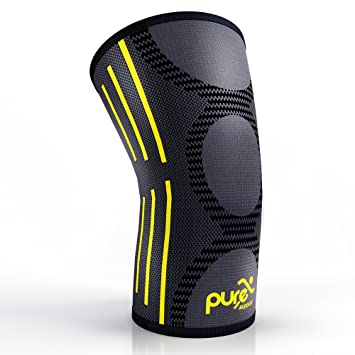 b9b1204e4b8 PURE SUPPORT Compression Knee Sleeve – Best Knee Brace for Meniscus Tear