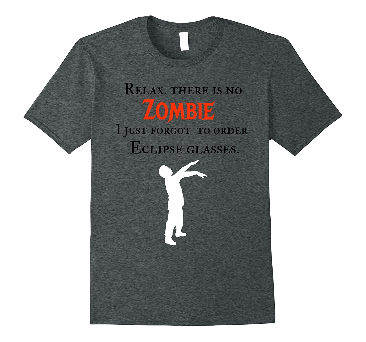 Zombie eclipse funny unique Halloween t shirt-FL