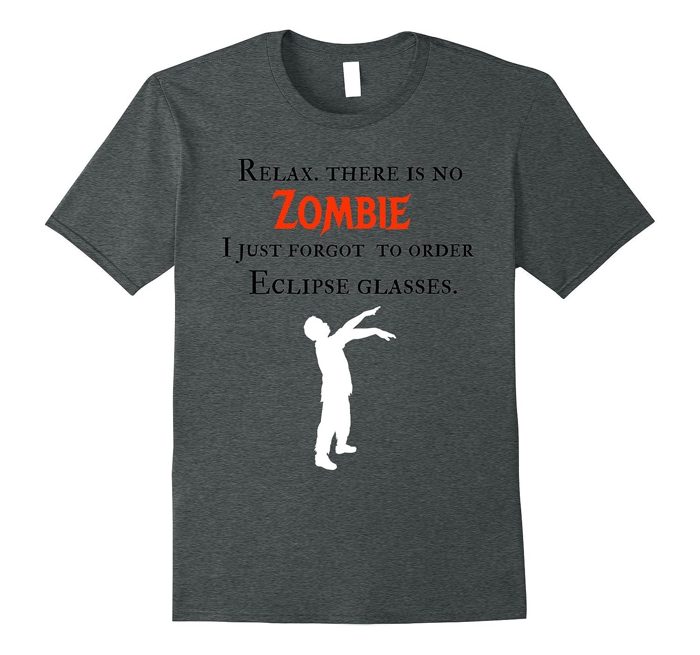 Zombie eclipse funny unique Halloween t shirt-TJ