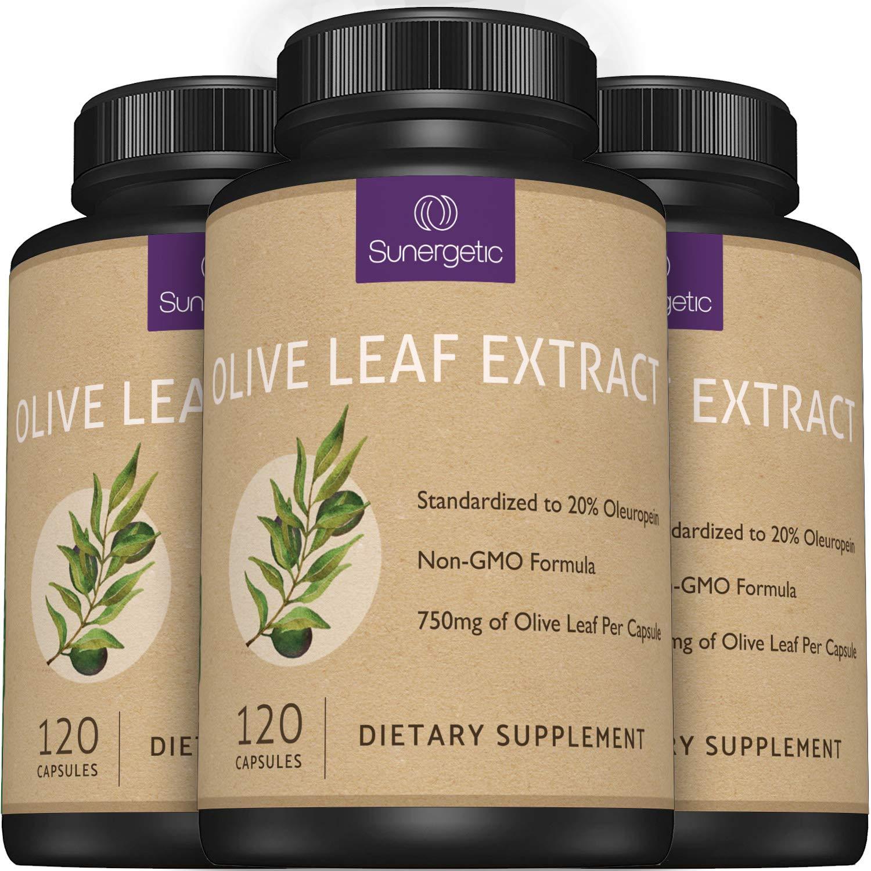 Premium Olive Leaf Extract Capsules – Standardized to 20% Oleuropein –  Super Strength Olive Leaf Exact