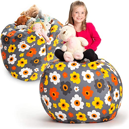 Fur Real Stuffed Animals, Amazon Com Stuffed Animal Storage Bean Bag Chair Extra Large Stuff N Sit By Creative Qt Organization For Kids Toy Storage Available In A Variety Of Sizes And Colors 38