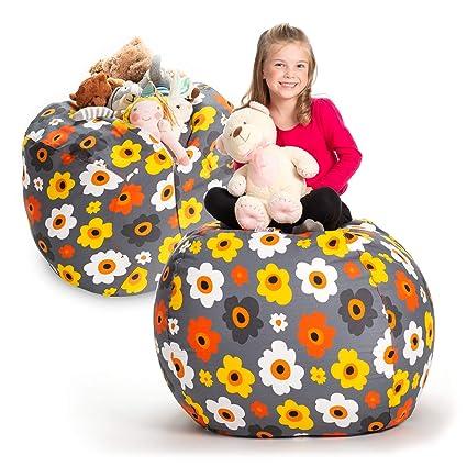 Amazon Com Creative Qt Stuffed Animal Storage Bean Bag Chair