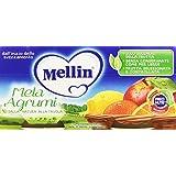 Mellin - Mela Agrumi, Omogeneizzato dal 4 mese compiuto, Pacco da  2X100 g, totale: 200 g