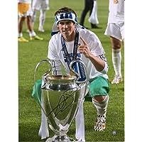 "$299 » Gareth Bale Real Madrid Autographed 12"" x 16"" UEFA Champions League Trophy Photograph - Soccer Autographed Miscellaneous Items"