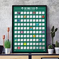100 Things To Do Bucket List Scratch Off Poster, One Size