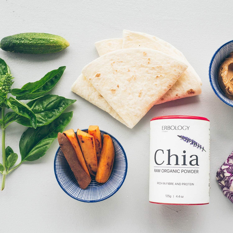 Polvo de Chia Bio 125g - Rico en Proteínas y Fibra - Sin Gluten: Amazon.es: Alimentación y bebidas